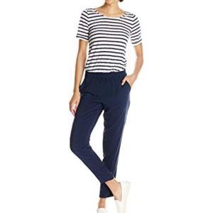 Splendid navy/white striped jumpsuit